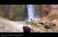 آبتنی در آبشار شاهاندشت - فاصله تا تهران فقط یک ساعت