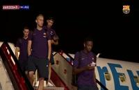 سفر تیم بارسلونا برای رویارویی با رئال سوسیداد
