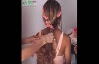مدل موی ساده و خیلی خوشگل  (آموزش شینیون در منزل)