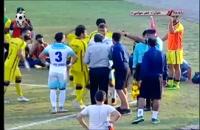 درگیری در بازی فوتبال ملوان بندرانزلی و فجر سپاسی - 30 مهر 1397