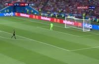 صحنه گل اول روسیه به کرواسی در جام جهانی 2018