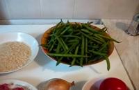 طرز تهیه لوبیا پلو با گوشت چرخ کرده خوشمزه