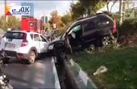تصادف شدید زنجیره ای