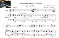 نت پیانو و فلوت آداجیو اثر النی کاراایندرو Eleni karaindrou adagio