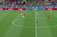 خلاصه بازی صربستان 0 - برزیل 2 (جام جهانی روسیه)