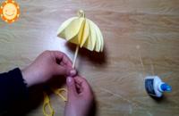 آموزش ساخت چتر کاغذی با استفاده از کاغذ