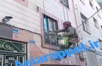 قیمت پیچ و رولپلاک نما ۰۹۹۰۹۷۹۷۱۸۶ پیچ و رولپلاک نما در تهران نماشوی پیچ و رولپلاک بدون داربست کار در ارتفاع با طناب و بدون داربس